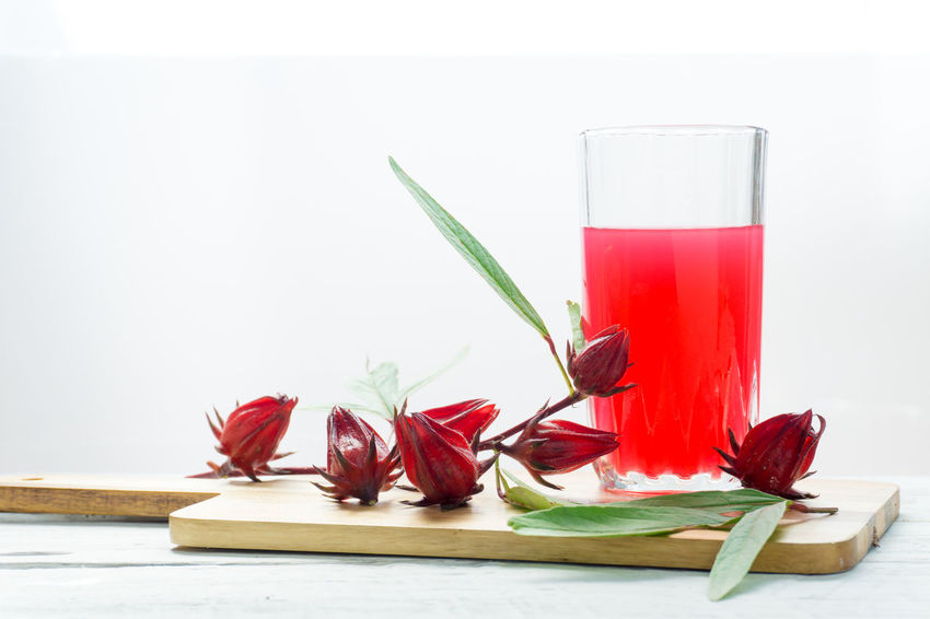 Red Roselle Juice Drink Fruit Oka Roselle Roselle Fruit White Background