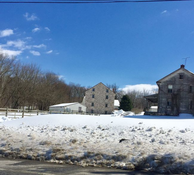 Abandoned farm Chester County Pennsylvania 829028 Haystack Field Winter Landscape Branch Outdoors Sky Day Tranquil Scene Beauty In Nature Chester County