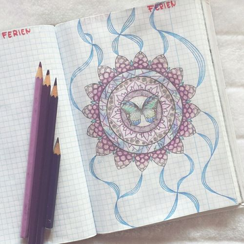 Mandala Drawing Pencil Getting Inspired Zeichnung  Draw Beautiful Buntstift Schmetterling 💕