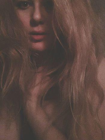 Alot Of Hair Blonde Girl Woman
