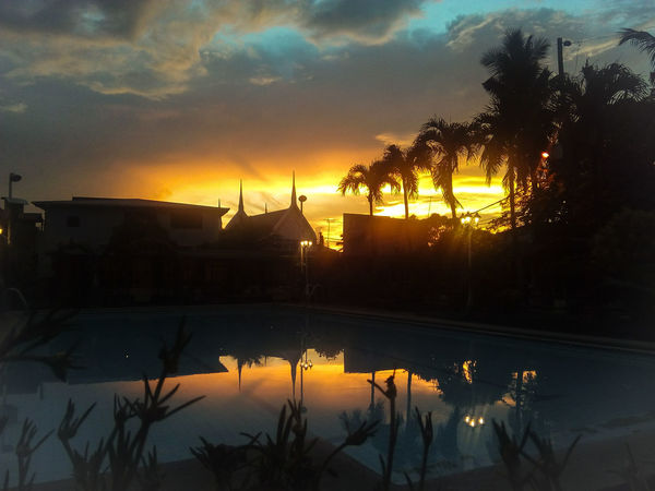 Sunset Resort Dusk Swimmingpool EyeEmNewHere Lost In The Landscape