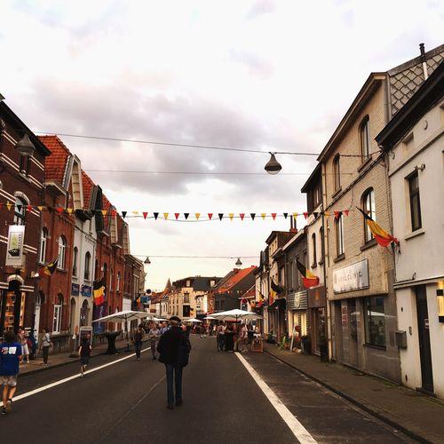 Ma commune La Hulpe été En Belgique Temps Gris Ciel Gris Nuages