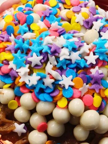 Sweet things Stars Sweet Food Sweet Multi Colored Sweet Food Sweet Indulgence Food Temptation Food And Drink Indoors  Large Group Of Objects High Angle View Ready-to-eat Freshness Dessert Choice No People Close-up Abundance Unhealthy Eating Still Life Candy