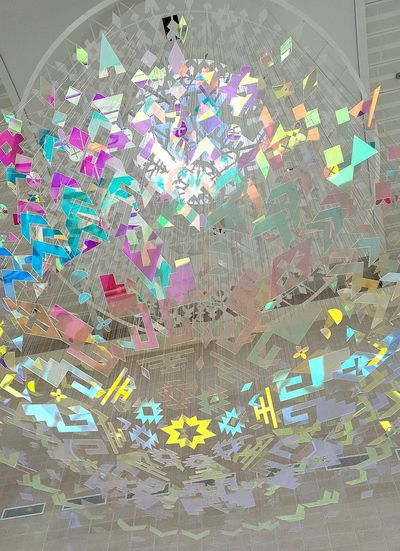 airport art Art ArtWork Color Colors El Paso Hanging Ceiling Art Multi Colored Abstract Close-up Day