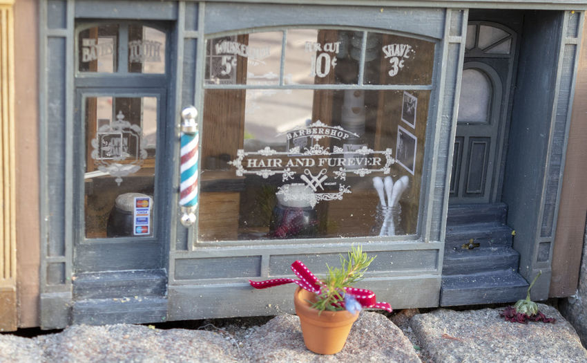 Anonymous hair salon Anonymous Store Hair Salon Miniature Miniatures Shop Window Text Building Exterior My Best Photo