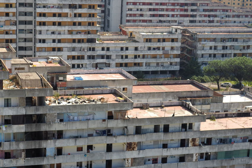 Scampia Architecture Broken Down House Building Exterior Built Structure Documentary Failure  Lost Place Napoli Sails Scampia Social Housing Vele