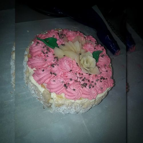 Flower Pink Color Patisserie Bavaroise Poire