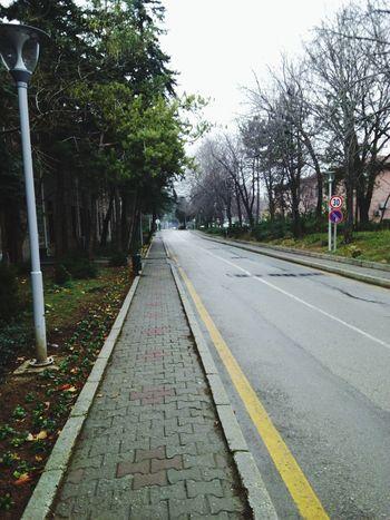 On The Road University Universität  Faculty Rainy Day Winter Nosnow