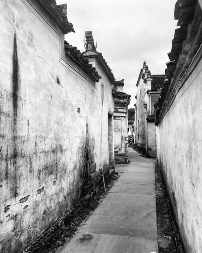 A Chinese painting Hongcun, China Built Structure Architecture Building Exterior The Way Forward Outdoors Day Sky