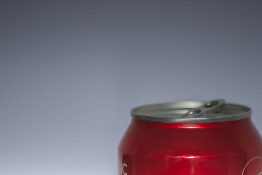 Soda drinks can with blurred background Close-up Indoors  No People