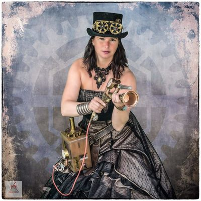 Steampunk Photography Fantasy Photography Portrait Fantasy Steampunk Portrait Photography Timetraveler Goggles Portrait Of A Woman