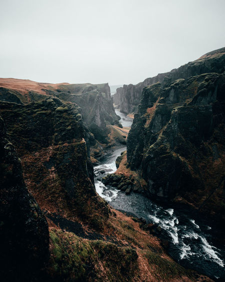 I have been looking forward to this trip for ages. The first time I've seen a shot of this Canyon in Iceland I just wanted to head there and experience the whole thing by myself. Thetravellingnomads Iceland Faraway Look Fjaðrárgljúfur River Iceland Moody Sky Moody Moodygrams Moody Weather Rock Formation Rugged Eroded Cliff Canyon Natural Landmark Rock Geology The Great Outdoors - 2019 EyeEm Awards