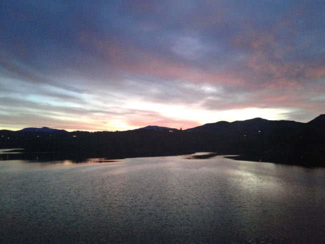 Sunrise Lake Jennings, Lakeside, CA Mountain Landscape Lake No People Beauty In Nature Water Sky Outdoors Scenics Tranquility Vacations