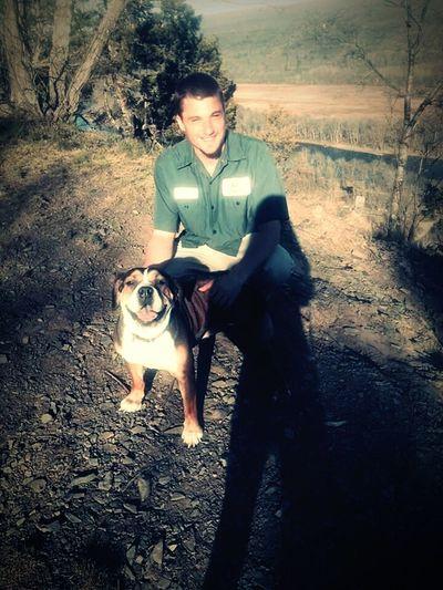 Mananddog Mansbestfriend Mixbreed Naturelovers Sunshine Mountain Top