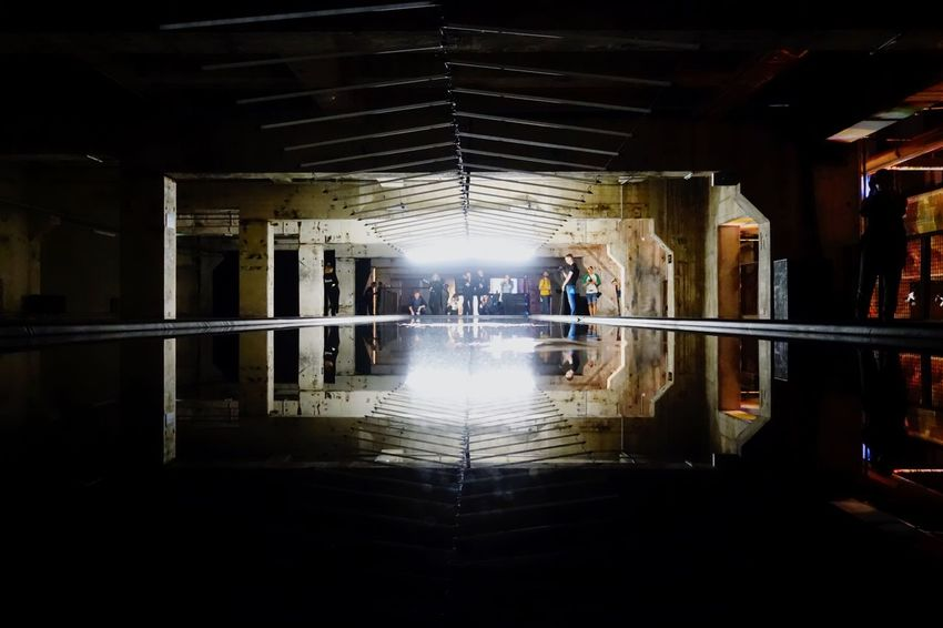 Real People Reflection Indoors  Built Structure Architecture Men Leisure Activity Women Lifestyles Illuminated Standing Night Full Length Water One Person People Shootermag Mobilephotography Eye4photography