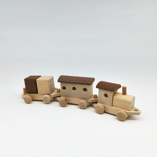 Brown Train Brown Color Train Toy Train Wooden Train Children Toys Display Child Stack Childhood White Background Close-up Day People