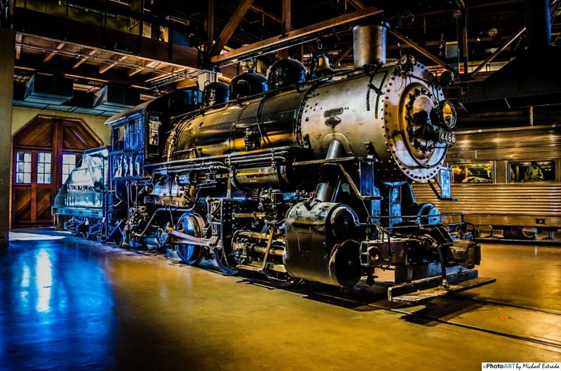 Locomotive 4466 - Last summer I went to the train museum and was amazed with these incredible machines. Today I will post some of my favorites photos from that set. Enjoy! Vintage Train Railroad Nikon Trains Steam Trains Steam Locomotive Old West