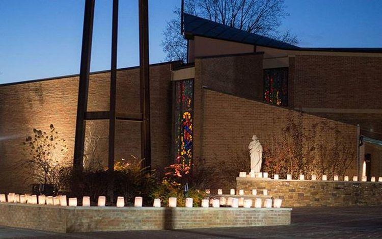Yesterday was the Feast of the Immaculate Conception. We set up Luminaria. ImmaculateConception Catholicfeastday Catholic SaintMary Saintjoseph