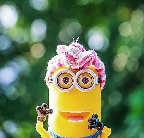 Childhood Close-up Day Happiness Minion Love Minions ♥♥ Minionsworld Multi Colored No People Outdoors Pink Color Smiling Toy