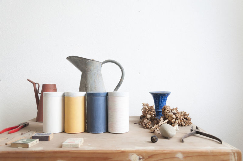 Variety of objects on table