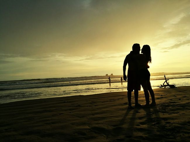 together Manabí Ecuador Nature Photography Ecuador Love Beach Two People Silhouette Sea Togetherness Full Length Sunset Sand