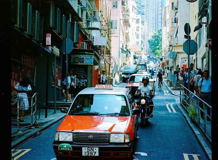 Film Photography Filmisnotdead Expired Film Kodak Portra City Street Mamiya7ii HongKong Filmphotography Mediumformat