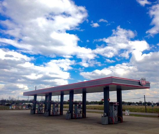 Roadtripping/Oklahoma City Gas Station BigSkyCountry Sky And Clouds