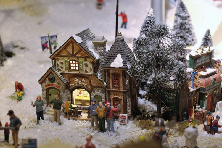 Snow Winter Miniature Christmas Decoration See What I See Indoors  Mergelrijk, Valkenburg Christmas Is Coming Cozy Winter Decoration Architecture Details Close-up Event Walking Around Taking Pictures Miniature Houses Scenery Winter Wonderland