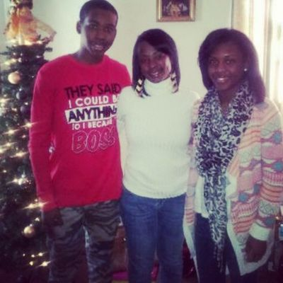 with the family earlier