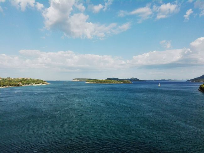 Croatia Dubrovnik Sea And Sky Islands Godscreation Clouds And Sky Green And Blue Rocks Water And Sky Boat Home Is Where The Art Is Colour Of Life Landscape Travel Photography Eyeem Photo Mobilephotography