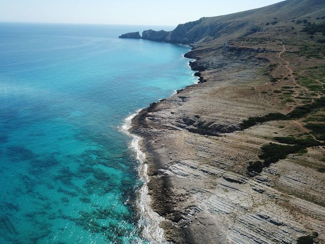 Dronephotography Mallorca Tranquil Scene Tranquility Nature No People Beach Sky Day Turquoise Colored Sunlight Idyllic First Eyeem Photo