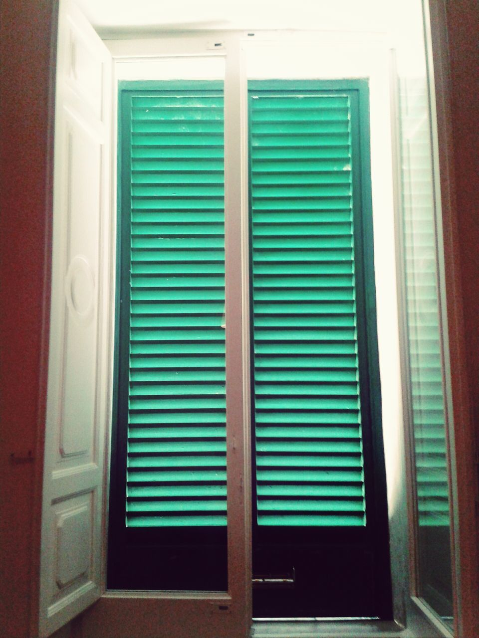 door, no people, indoors, green color, home interior, day, close-up