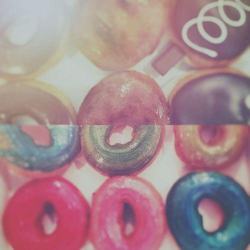 The OO Mission Doughnuts Nuts Colorful Circles Bavarian Chocofills Dunkin Donuts Krispy Kreme J.co
