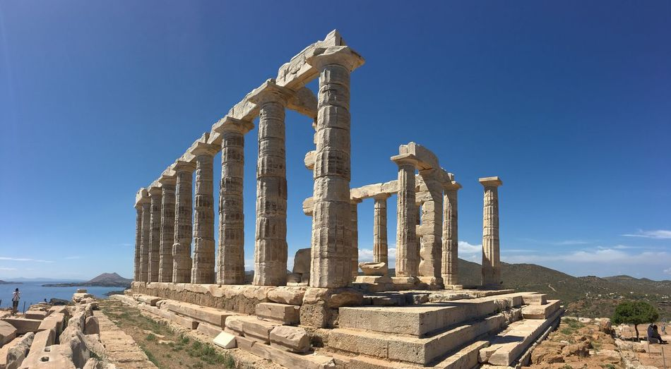 Temple Greece Poseidon Ancient Ancient Architecture Ancient Ruins
