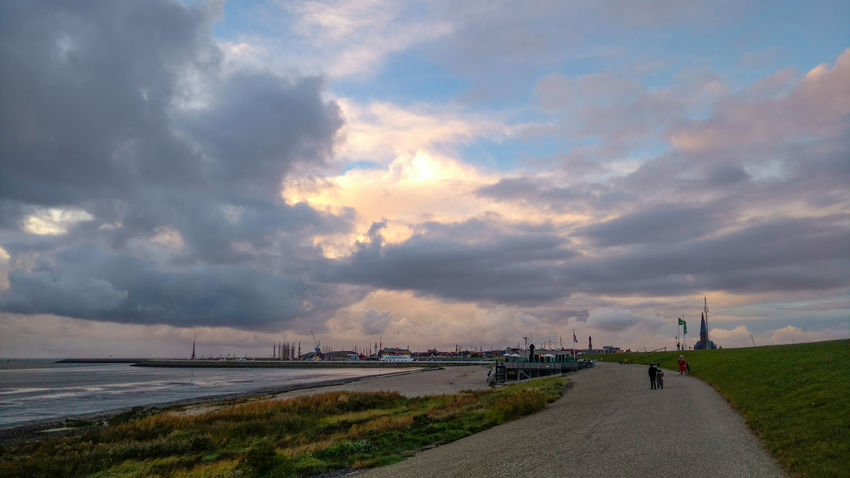 Herbst in Harlingen Cloud Cloud - Sky Connection Day Diminishing Perspective Distant Footpath Grass Harlingen, Netherlands Long Nature Non-urban Scene Outdoors River Scenics Sky Suspension Bridge The Way Forward Tourism Tranquil Scene Tranquility Transportation Travel Destinations Water