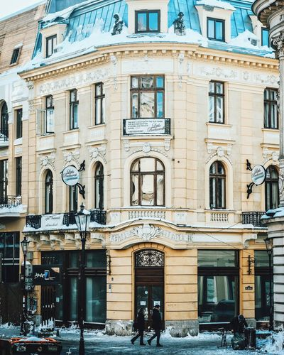 Architecture Building Exterior Façade Window Cultures City Built Structure Outdoors Travel Destinations Arch Day No People Bucharest Romania Urban City Architecture Visiting Travel
