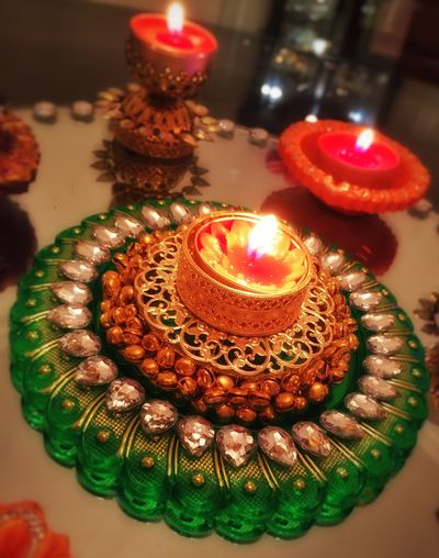 Diwali Diwali 2015 Diwalicelebrations Candles Lights Light Flame Glowing Glow Festive Season Festival Festive Colors Colorful Centrepiece