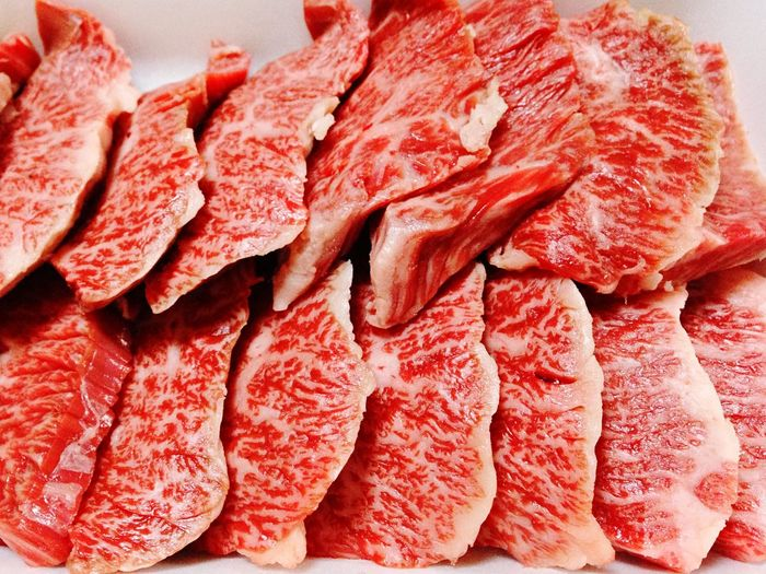 Close-Up Of Beef Slices