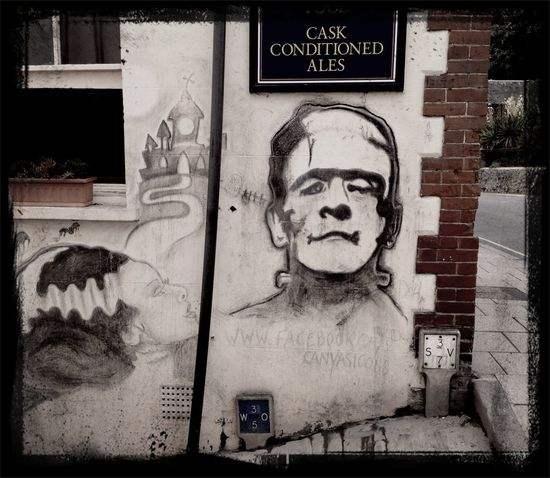 Public House Frankenstein Streetart