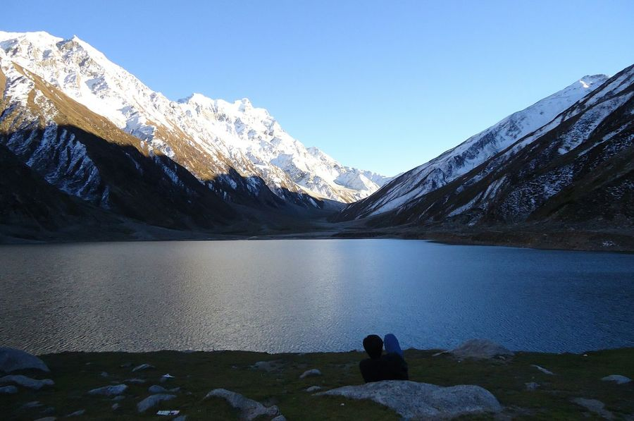 Lake Tranquil Scene Mountain Winter Cold Temperature Snow Beauty In Nature Snowcapped Mountain Majestic Nature Tourism Water Saiful Maluk Lake Pakistan Clear Sky Idyllic Scenics Tranquility No Filters Or Effects Travel Finding New Frontiers Finding New Frontiers