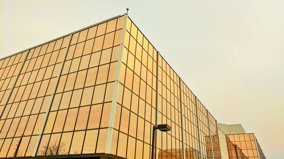 Glass Reflection Glass Building Built Structure Architecture No People Low Angle View Outdoors Sky Building Exterior Modern Day