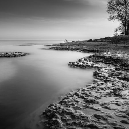Jagged edge of Lake Ontario. Long Exposure Water Jasoncrockettphotography Landscape Monochrome Blackandwhite Waterscape Rocks And Water Rocks