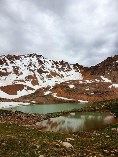 Озеро Титова Kazakhstan♥ Almatymountains Mountain Snow Water Lake Snowcapped Mountain Mountain Peak Reflection Sky Landscape Mountain Range