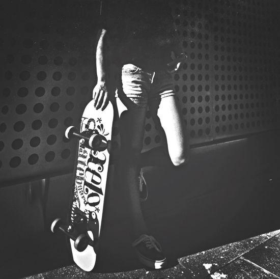 EyeEm Black And White Light And Shadow Colors Hello World Black & White Blackandwhite Skateboarding