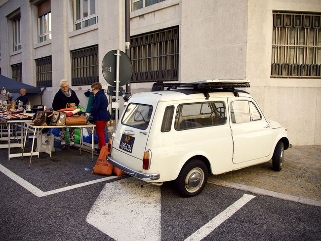 Autobianchi Adult Bianchina Building Building Exterior Built Structure Car City Color Day Group Of People Incidental People Land Vehicle Men Mode Of Transportation Motor Vehicle Outdoors People Real People Road Street Transportation Women