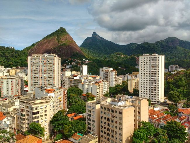 Capital Cities  Aereal View Tropical Climate Travel Destinations Summer Urban Skyline Cityscape Modern Clouds And Mountains Scenics Tourism Landscape Horizon Houses Buildings Mountain Range Corcovado Cristo Redentor Vacations Forest Bright Mountain Peak Beauty In Nature Brazilian Neighbourhood