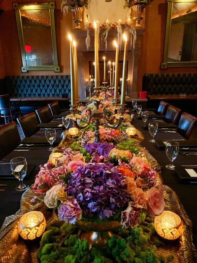 Floral Arrangement Flower Decoration IPhoneography Candle Illuminated Flower Flowering Plant Plant Lighting Equipment Decoration Arrangement Celebration High Angle View Night Indoors  Table No People Event Seat Burning Fire