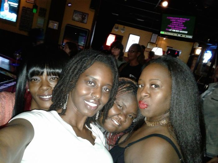 Arts Culture And Entertainment Friendship Portrait Indoors  Cheerful People Only Women Fun Drunk Friends Nightlife Lips Beautiful Skin Melanin Darksin Lesbian Looking At Camera Confidence  Smiling NaturalBeauty Nofilternecessary Headshot Beauty Redefined Women Beauty Natural Hair