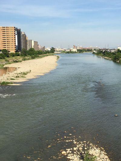 河よりも長くゆるやかに Riverside 宝塚 River Takarazuka Japan 武庫川 Water Building Exterior Architecture Built Structure Sky City Nature No People Sunlight