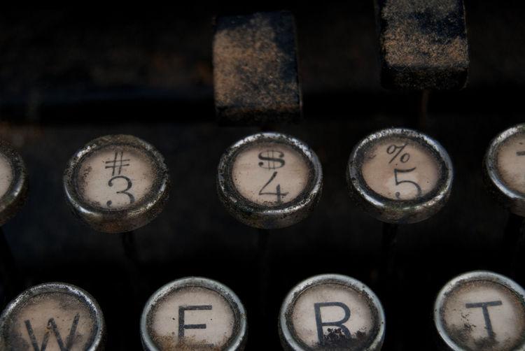 $ Close-up Detail Metal Old-fashioned Remington Remington Typewriter Selective Focus Typewriter